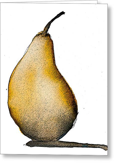 Speckled Pear Greeting Card by Jani Freimann