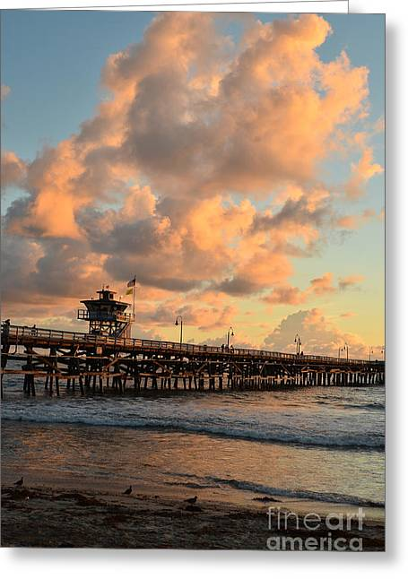 Spectacular San Clemente Clouds Greeting Card by Timothy OLeary