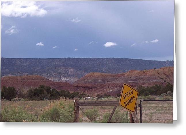 Greeting Card featuring the photograph Speed Bumps Nb by Susan Alvaro