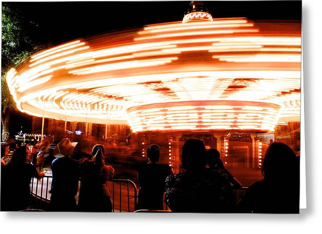 Speed Of Light Greeting Card by Alexander Martinez