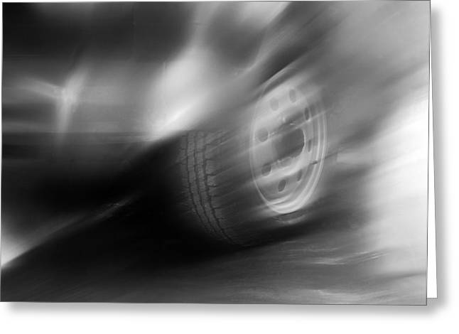 Speed Wheel Greeting Card by Jan W Faul