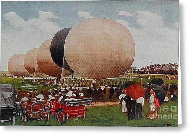 Speedway Baloon Race At Indianapolis In In 1911 Greeting Card