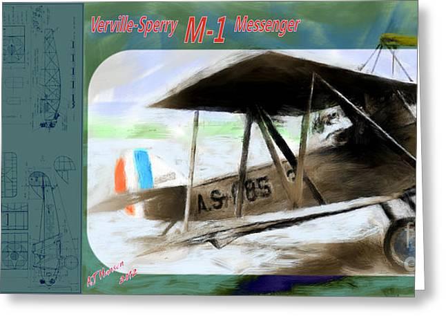 Sperry Messenger Greeting Card by Arne Hansen