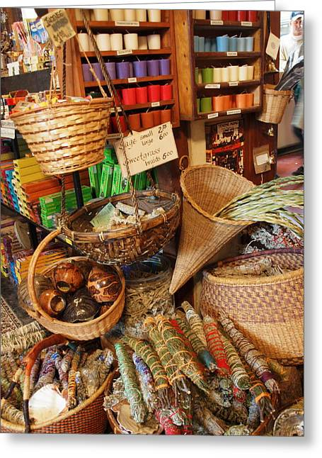 Spice Shop Greeting Card by Jim Moore