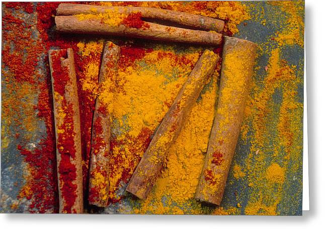 Spices Greeting Card by Bernard Jaubert