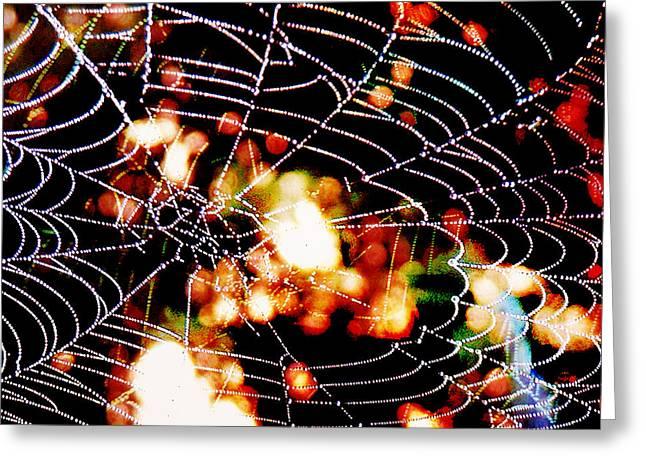 Spider Love Greeting Card by Greta Thorsdottir