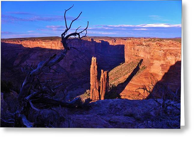Spider Rock Greeting Card by John Wanserski