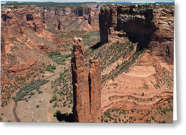 Spider Rock Morning Greeting Card by Julie Magers Soulen