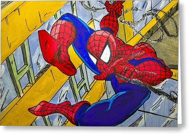 Spidey  Greeting Card by Chris  Leon