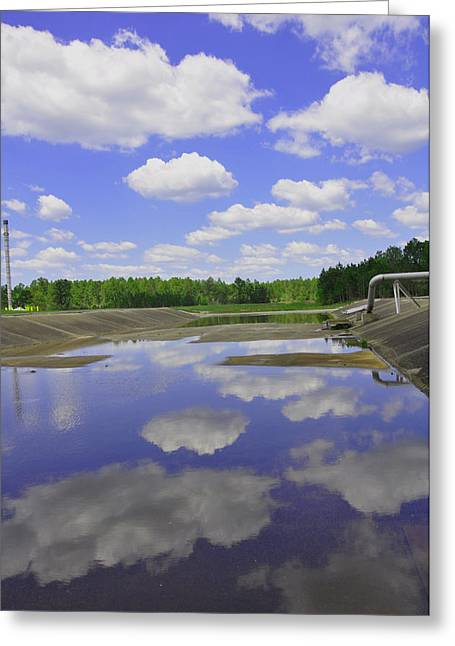 Spillway Greeting Card by Suzanne E Clark