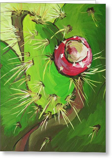 Spines Greeting Card by Sandy Tracey