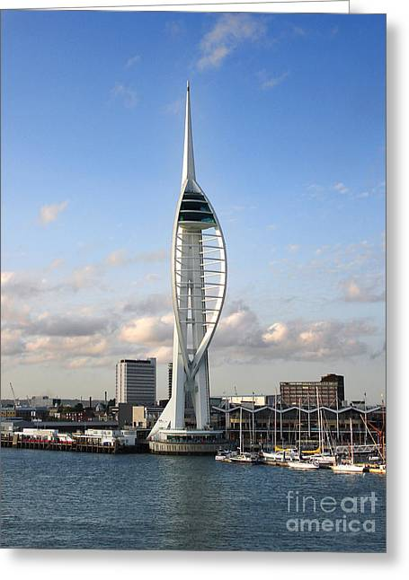 Spinnaker Tower Greeting Card by Jane Rix