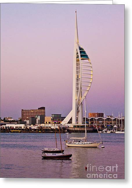 Spinnaker Tower Greeting Card by John Basford