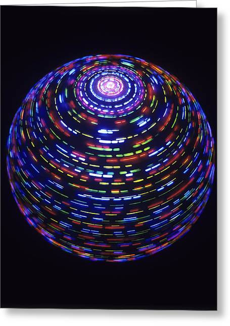 Spinning Globe Greeting Card by Lawrence Lawry