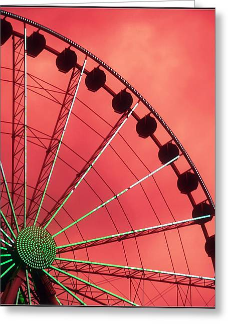 Spinning Wheel  Greeting Card by Karen Wiles