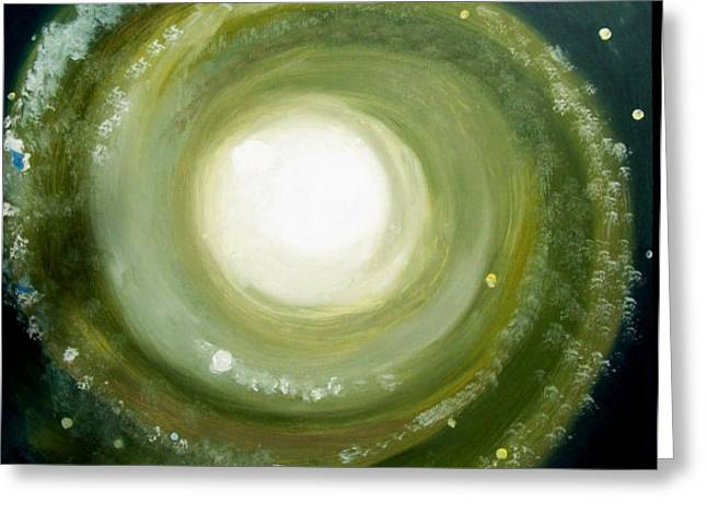 Spiral Galaxy Greeting Card by Bernard MORIN
