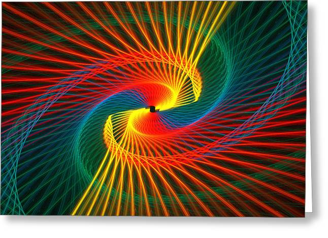 Spiral Rainbow  Greeting Card by Kim French