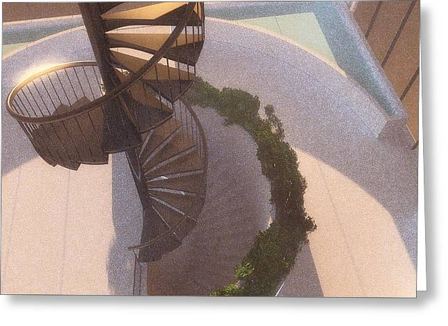 Spiral Staircase No. 1 Greeting Card
