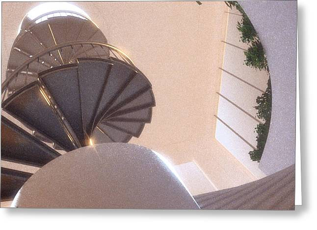 Spiral Staircase No. 2 Greeting Card