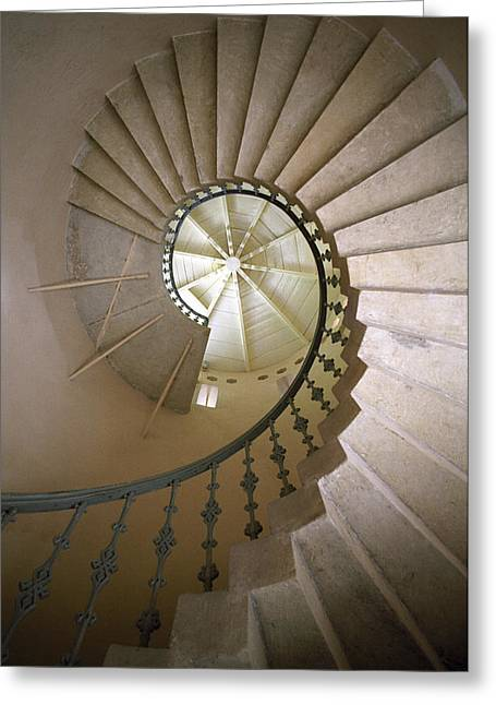 Spiral Stairs - Krakow Greeting Card by Martin Cameron