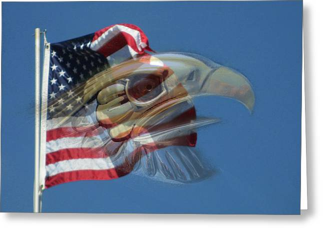 Spirit Of The Screaming Eagles Greeting Card by Kevin Caudill