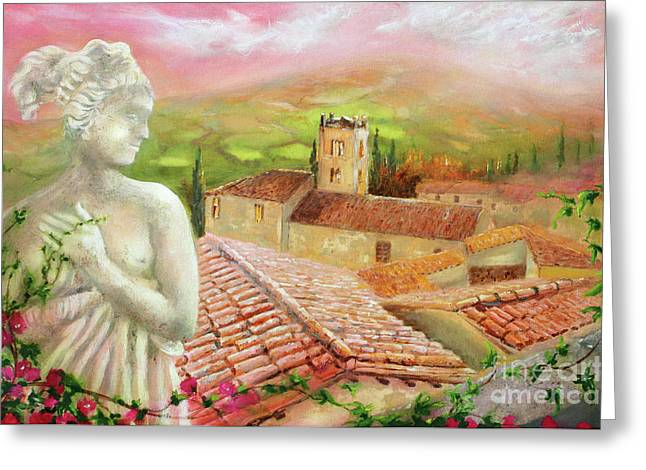Greeting Card featuring the painting Spirit Of Tuscany by Michael Rock