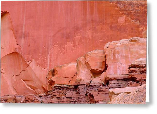 Greeting Card featuring the photograph Spirit Wall by Ann Johndro-Collins