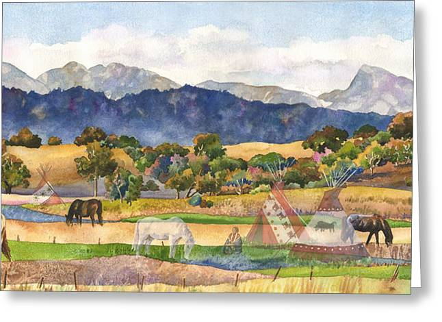 Spirits Of The Ancestors Greeting Card by Anne Gifford