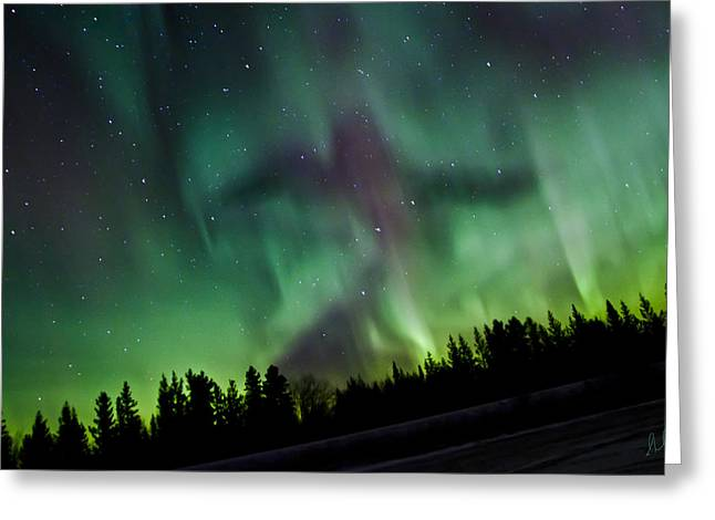Spirits Of The Northern Nights Greeting Card by Steve  Milner