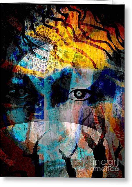 Spiritual Visitation Greeting Card by Fania Simon