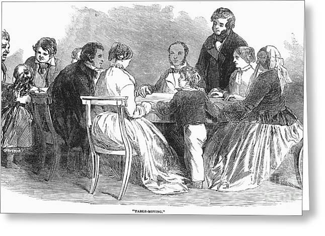 Spiritualism: Seance, 1853 Greeting Card