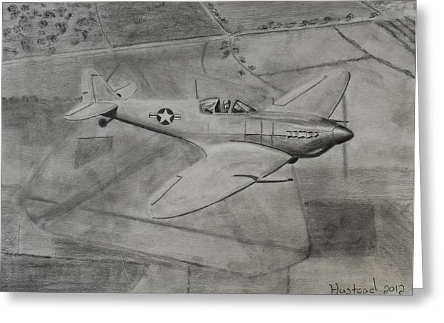 Spitfire Greeting Card by Brian Hustead