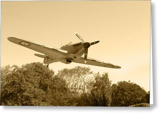 Spitfire Greeting Card by Chris Day