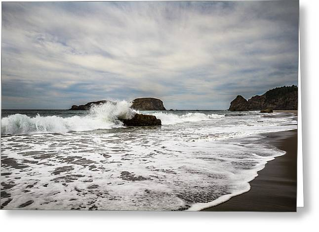 Greeting Card featuring the photograph Splash by Randy Wood