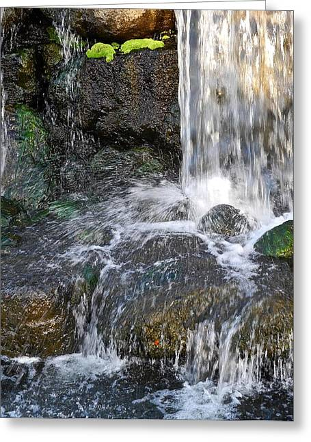 Greeting Card featuring the photograph Splashing Water Falls by Kirsten Giving
