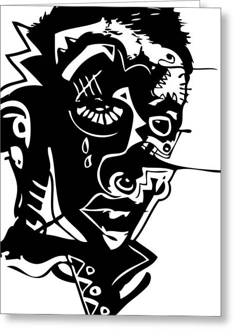 Splatter Man Greeting Card