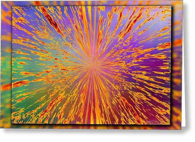 Splattered Greeting Card by Tim Allen