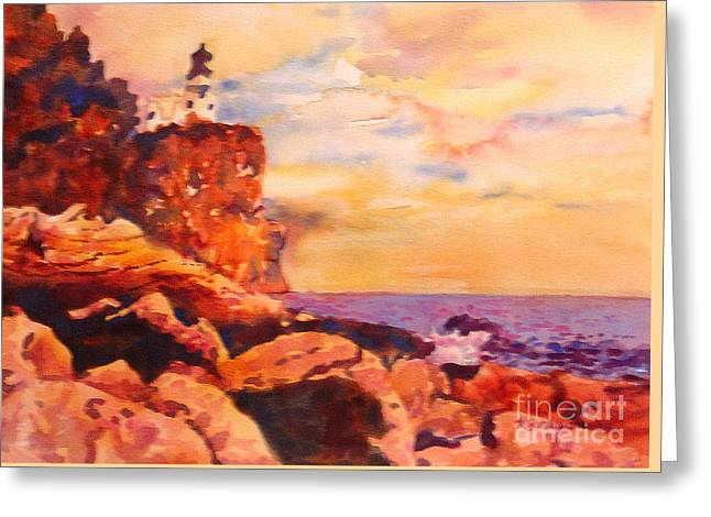 Split Rocks Golden Memories       Greeting Card by Kathy Braud