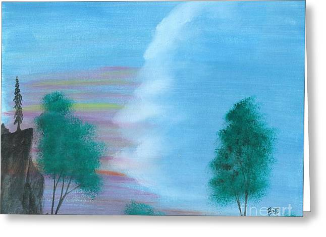 Split Sky Greeting Card by Robert Meszaros