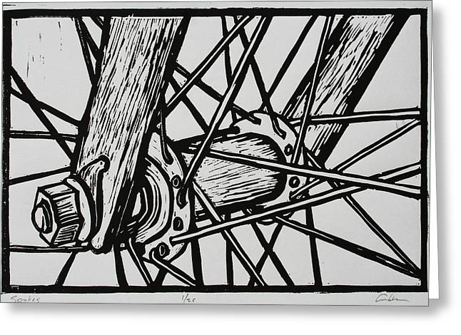Spokes Greeting Card by William Cauthern