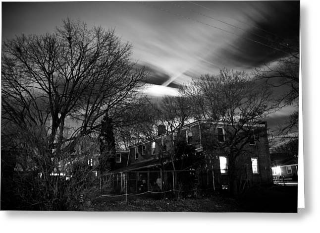 Spooky Night Greeting Card by Ken Stachnik