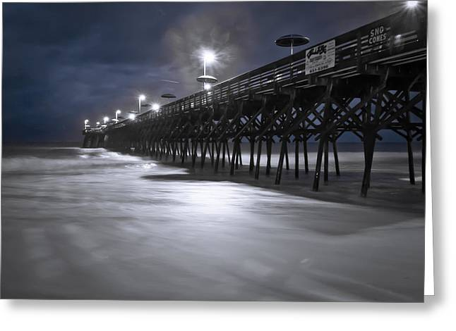Spooky Pier Greeting Card