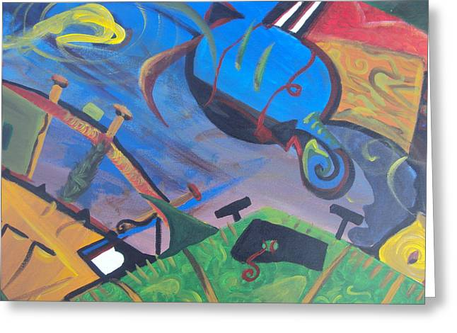 Abstract Representation Of The Word Sport Greeting Card by Casey P