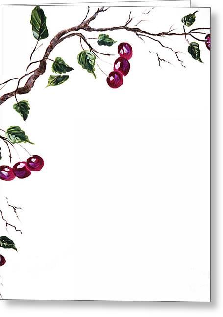 Spray Of Cherries Greeting Card