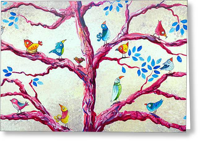 Spring Birds Greeting Card