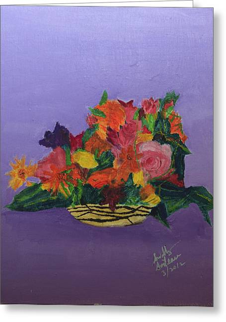 Greeting Card featuring the painting Spring Bouquet by Swabby Soileau
