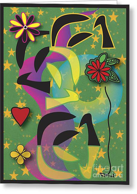 Greeting Card featuring the digital art Spring by Christine Perry