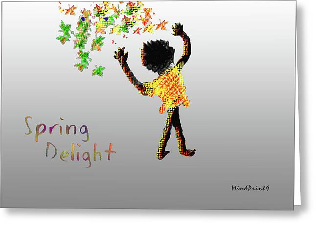 Greeting Card featuring the digital art Spring Delight by Asok Mukhopadhyay