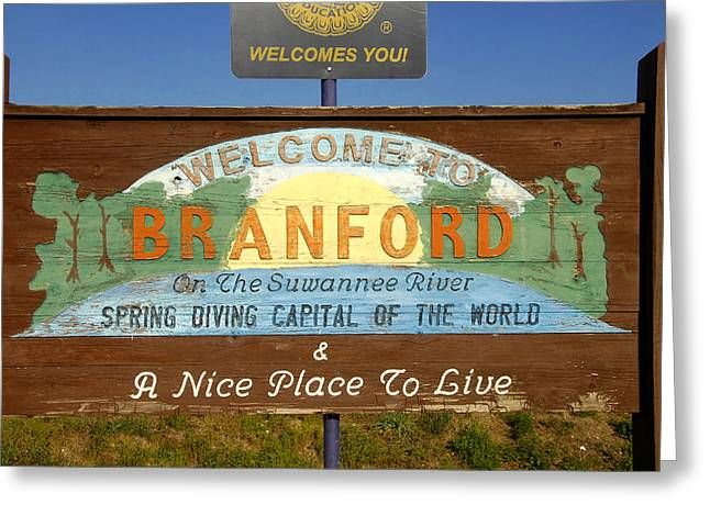 Spring Diving Capital Of The World Greeting Card by David Lee Thompson