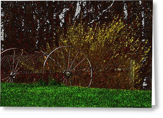 Spring In The Country Greeting Card by Debra     Vatalaro